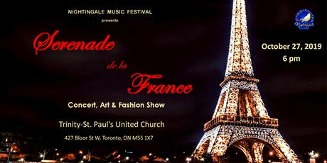Sérénade de la France ( Concert,  Art&Fashion Show) tickets