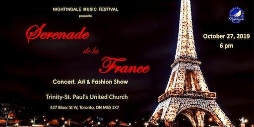 Sérénade de la France (Concert,  Art & Fashion Show)