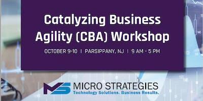 CATALYZING BUSINESS AGILITY (CBA) 2 DAY WORKSHOP
