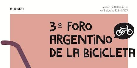 3er Foro Argentino de la Bicicleta (FAB) 19 y 20 de Septiembre entradas