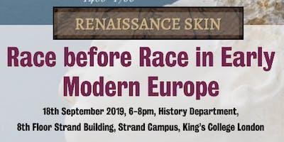 Race before Race in Early Modern Europe