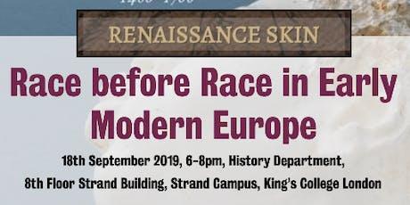 Race before Race in Early Modern Europe tickets