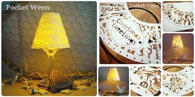 Festive Papercut Tea Lamps.