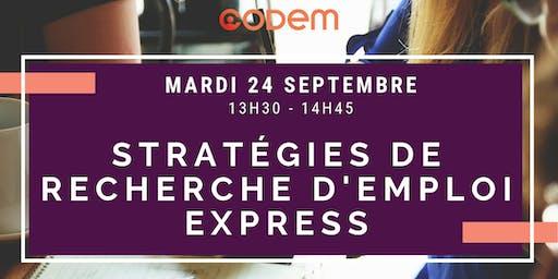 Atelier - Stratégie de recherche d'emploi express