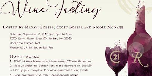 Manavi Boeser, Scott Boeser and Nicole McNabb Client Appreciation Wine Tasting