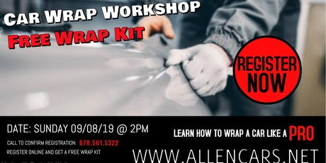 Learn to Wrap Cars like a Pro: Beginners Workshop tickets