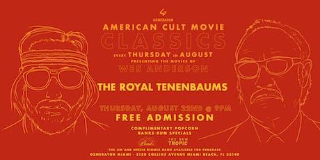 Wes Anderson: American Classics Screening at Generator Miami tickets