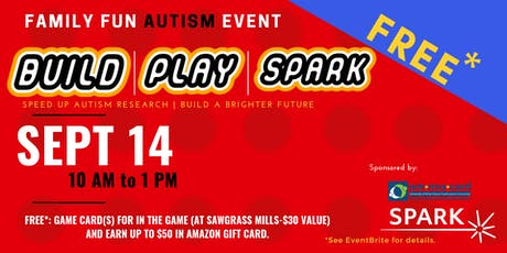 Build, Play, SPARK | FREE Autism Family Event tickets