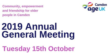 Age UK Camden AGM 2019 tickets