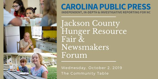 Jackson County Hunger Resource Fair & Newsmakers Forum