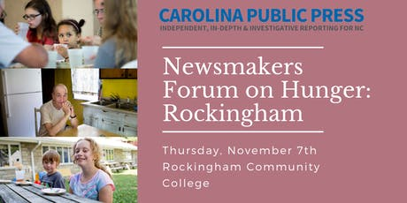 Newsmakers Forum on Hunger: Rockingham tickets