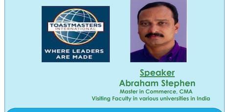 Toastmaster Public speaking : 2 Hour workshop tickets