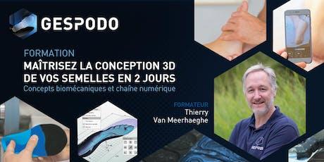 Maîtrisez la conception 3D de vos semelles en 2 jours - LYON billets