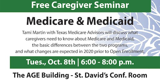 Medicare and Medicaid for Caregivers