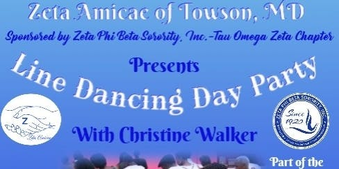 Zeta Amicae Of Towson MD Line Dancing Day Party