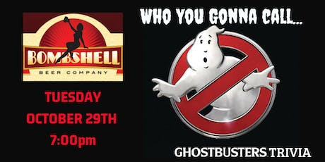 Ghostbusters Trivia at Bombshell Beer Company tickets