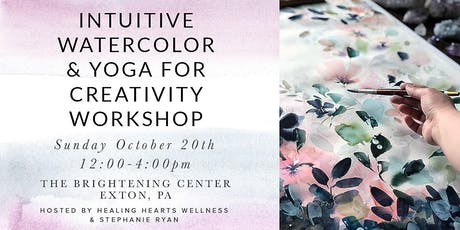 Intuitive Watercolor & Yoga for Creativity Workshop tickets