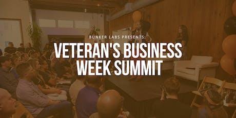Bunker Labs Bozeman: Veteran Small Business Week Summit tickets