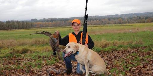 Mentored Youth Pheasant Hunt: Cottonwoods Wildlife Area - Selah, WA