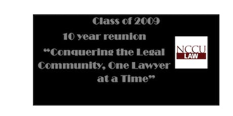 NCCU Law Class of 2009 Reunion tickets