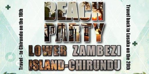 All white Party at the lower zambezi Island