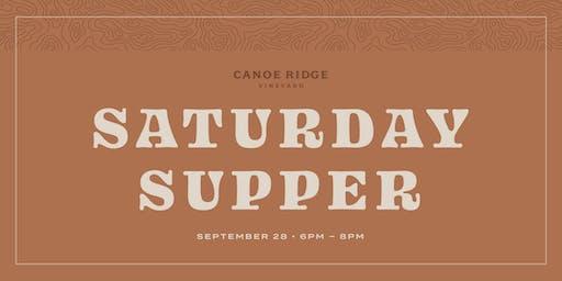Saturday Supper at Canoe Ridge Vineyard