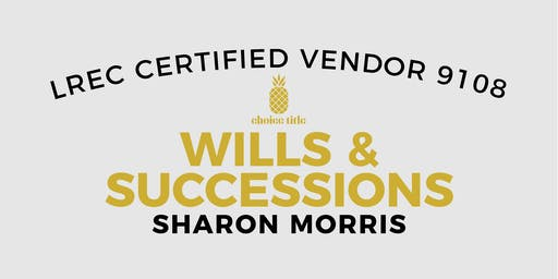 September 19 - Wills & Successions