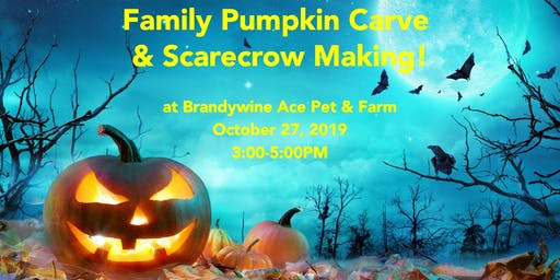 Annual Family Pumpkin Carve & Scarecrow Making