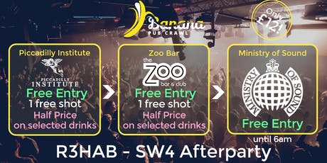 Banana Pub Crawl - Ministry of Sound - R3HAB - SW4 Afterparty tickets