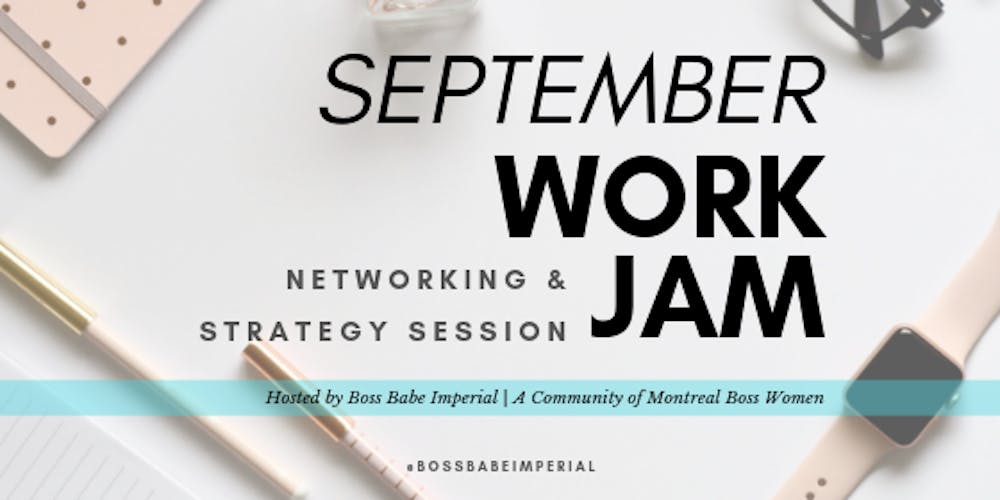 Sept Work Jam, Networking & Strategy Session