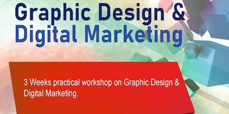 3 Weeks Practical Workshop on Graphic Design and Digital Marketing tickets