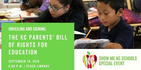 Unveiling and Signing of the KC Parents' Bill of Rights for Education tickets