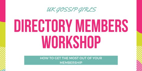 New Member Workshop - DECEMBER tickets