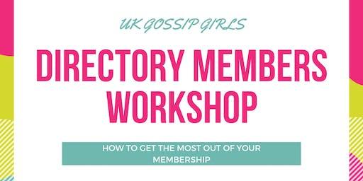 New Member Workshop - OCTOBER