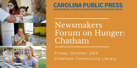 Newsmakers Forum on Hunger: Chatham tickets