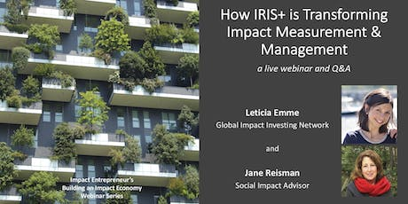 How IRIS+ is Transforming Impact Measurement & Management tickets