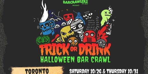 Trick or Drink: Toronto Halloween Bar Crawl (2 Days)