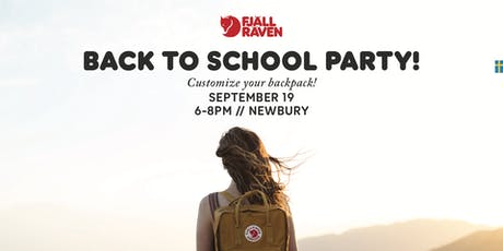 BACK TO SCHOOL PARTY at FJALLRAVEN NEWBURY tickets