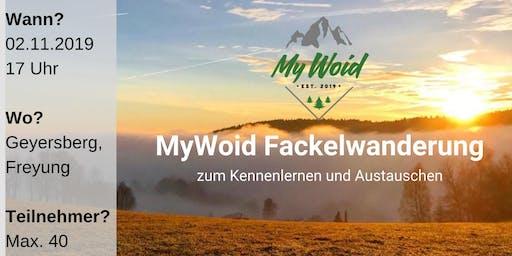 MyWoid Fackelwanderung zum Kennenlernen und Austauschen