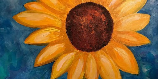 Easy Easel- Happy Sunflower Painting