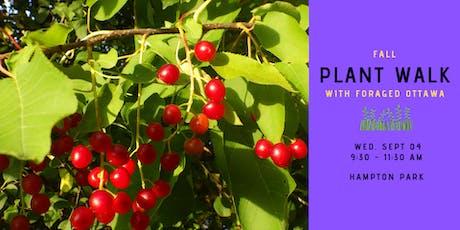 Fall Edible Plant Walk - Hampton Park tickets