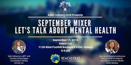 "AIB2B September Mixer feat. Reach Out ""Let's Talk About Mental Health"" tickets"