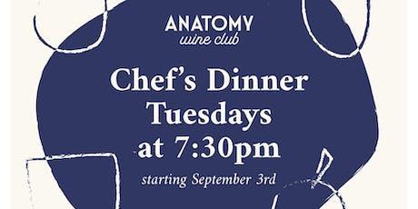 Anatomy Wine Chef's Dinner - September 3rd tickets