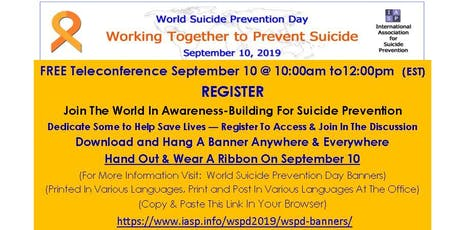 World Suicide Prevention Day Teleconference tickets