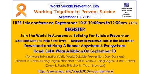 World Suicide Prevention Day Teleconference