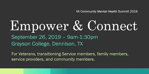 Community Mental Health Summit--2019 Bonham VAMC--GRAYSON COLLEGE