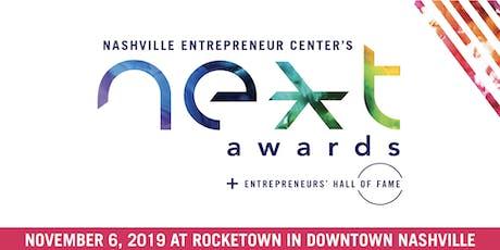 2019 NEXT Awards + Entrepreneurs' Hall of Fame tickets