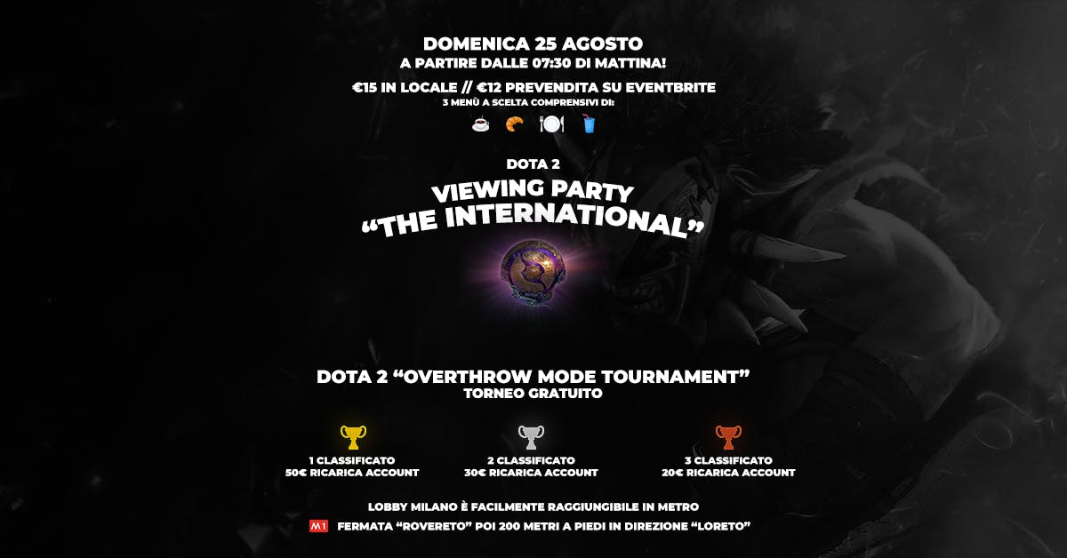 Viewing Party: Dota 2 The International 2019