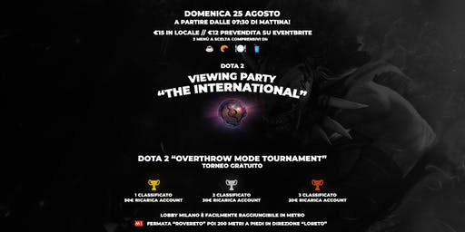 "Viewing Party: Dota 2 ""The International 2019"""