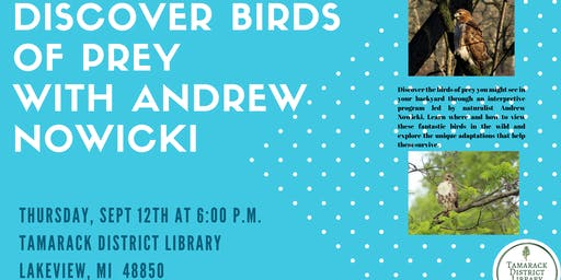 Discover Birds of Prey with Andrew Nowicki